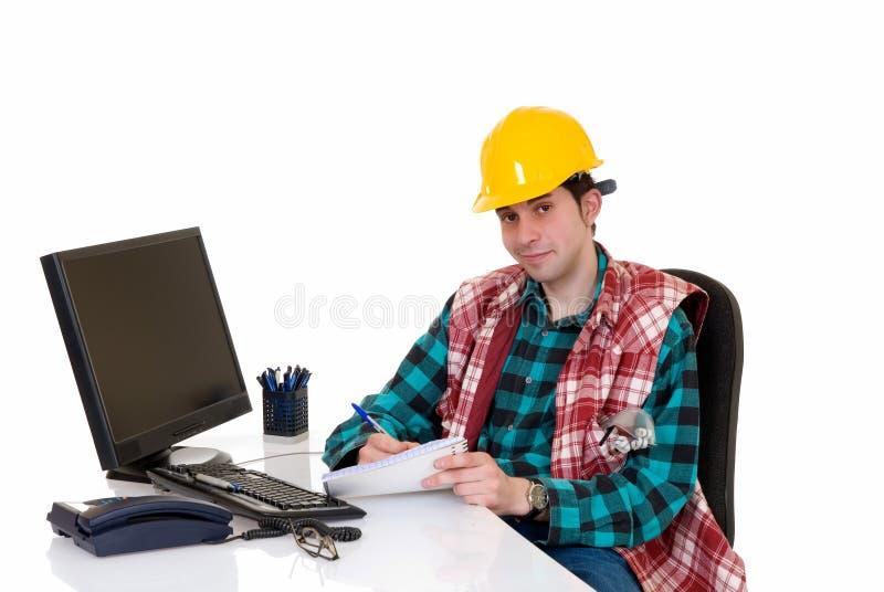 budowy biura nadzorca zdjęcie royalty free