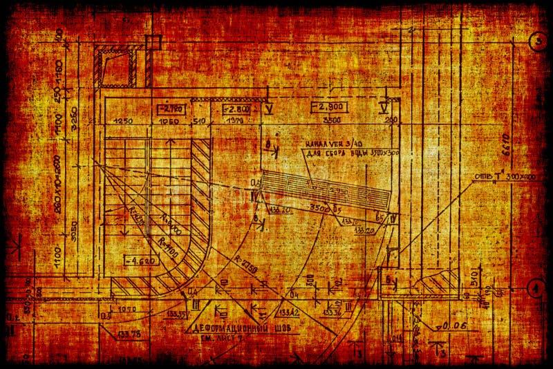 budowy czerepu planu rocznik ilustracja wektor
