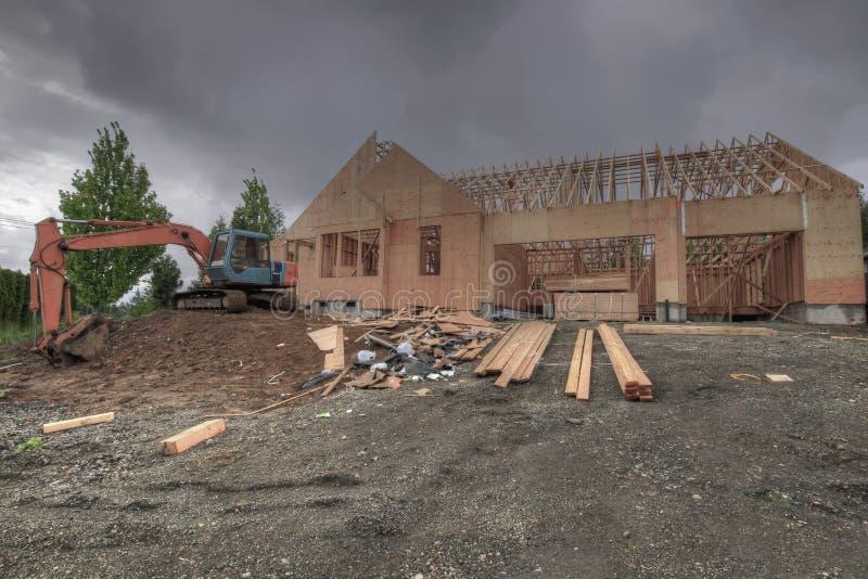 budowy domu miejsce zdjęcia stock