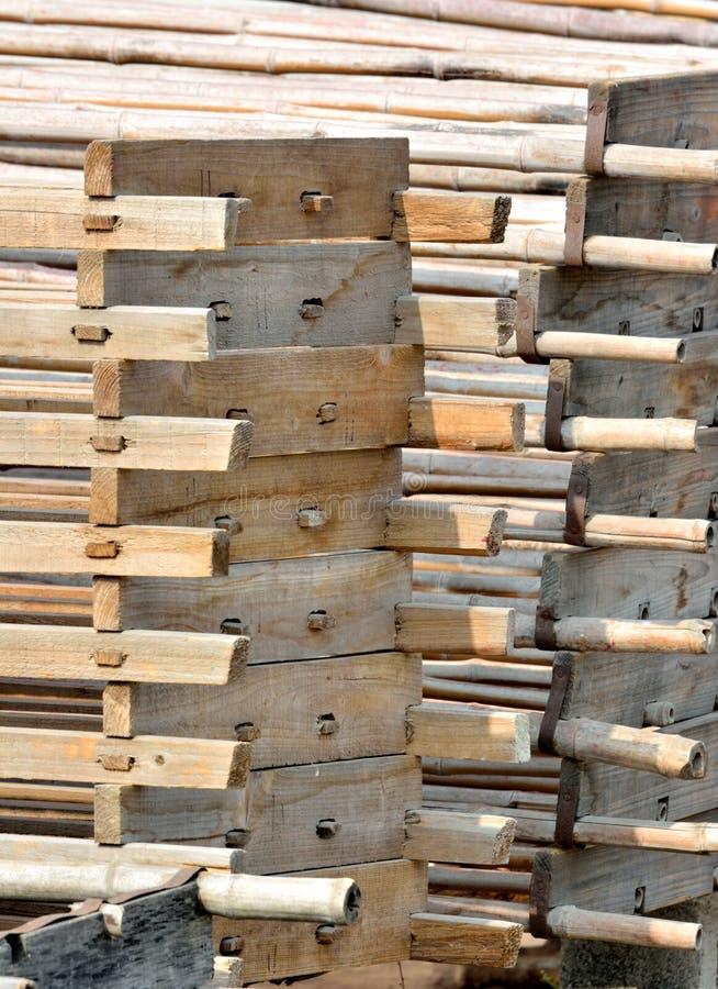 Budowy drewniana rama obraz royalty free