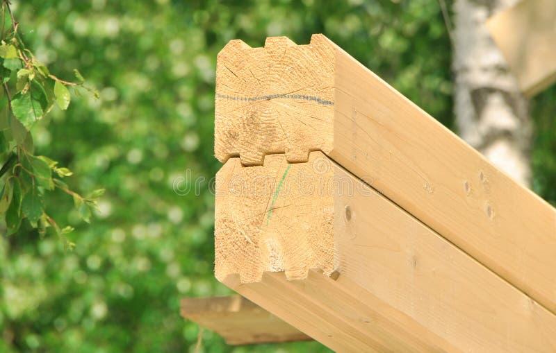 budowy drewniany domowy nowy zdjęcia royalty free