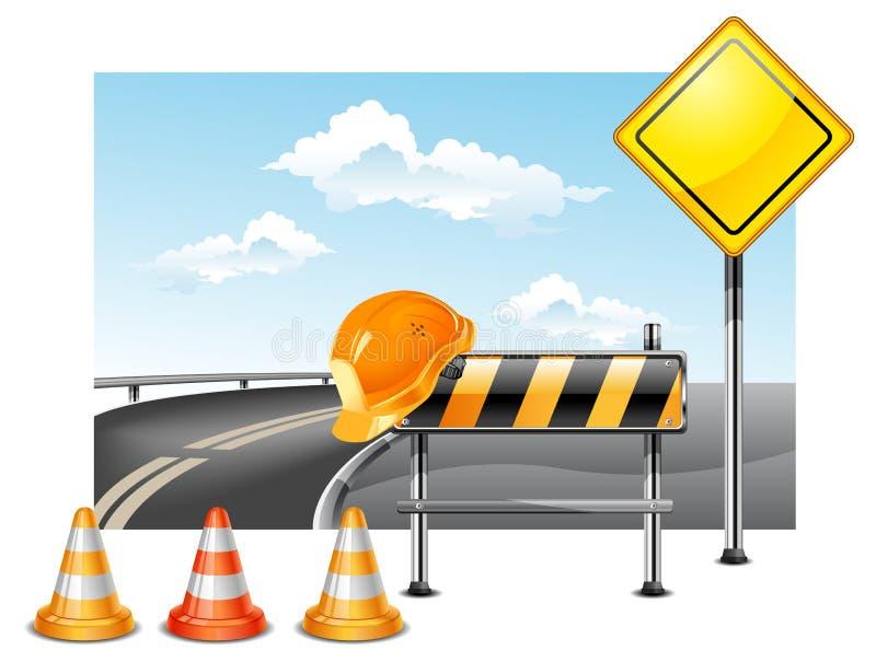 budowy droga royalty ilustracja
