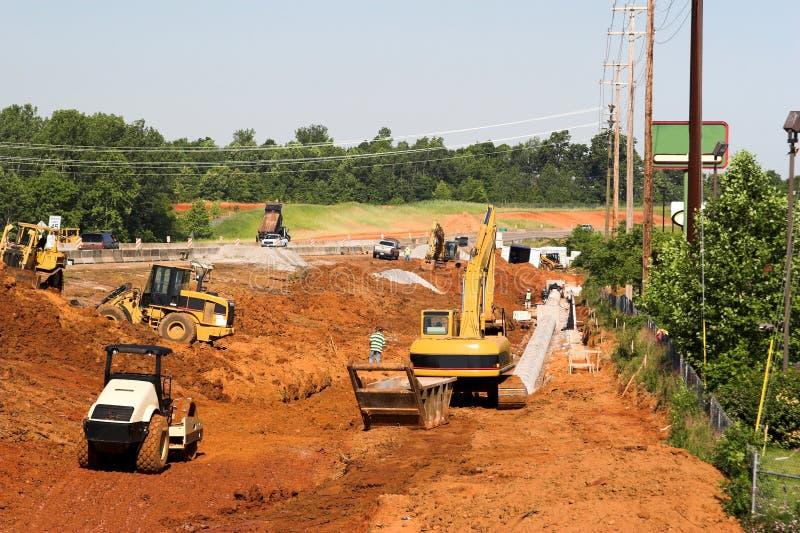 budowy głównej drogi zdjęcie royalty free