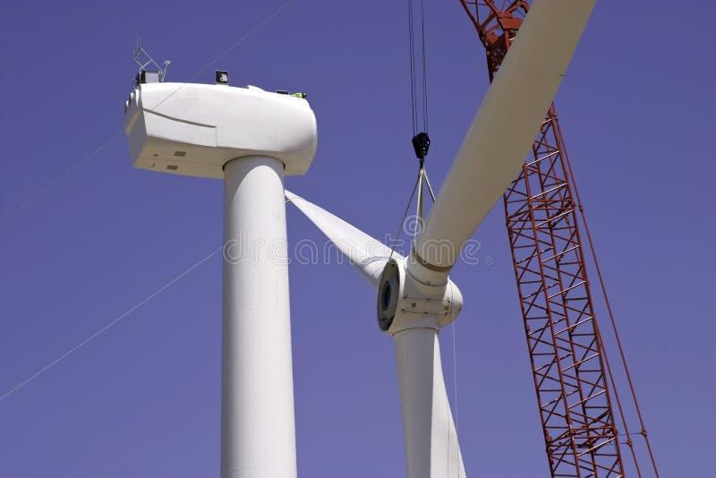 budowy generatoru wiatr obraz royalty free