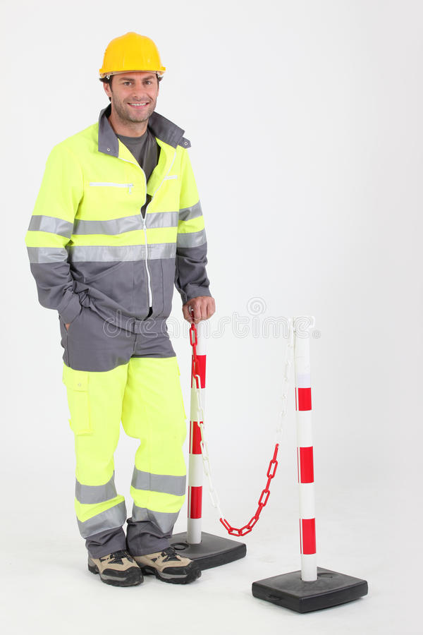 budowy hełma pracownik obraz stock