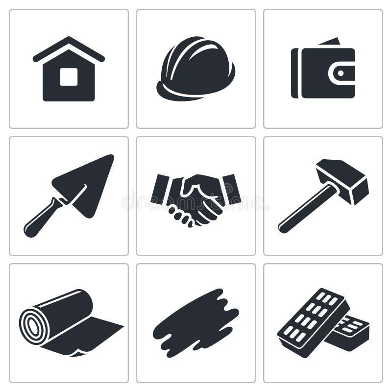 Download Budowy I Domu Ikony Remontowa Kolekcja Ilustracji - Ilustracja złożonej z ilustracje, rzemiosło: 42525475