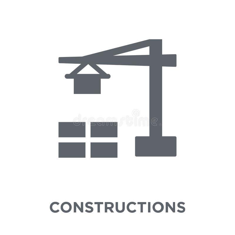 Budowy ikona od kolekcji ilustracji