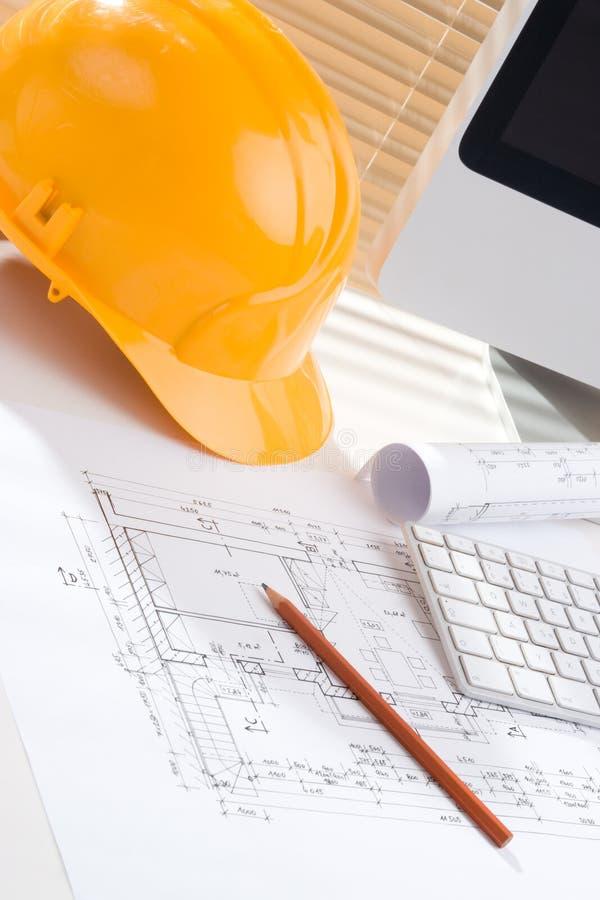 budowy kierownika biuro obraz stock