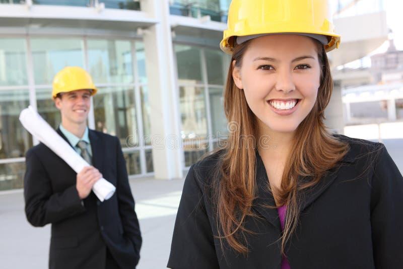 budowy mężczyzna kobieta zdjęcie royalty free