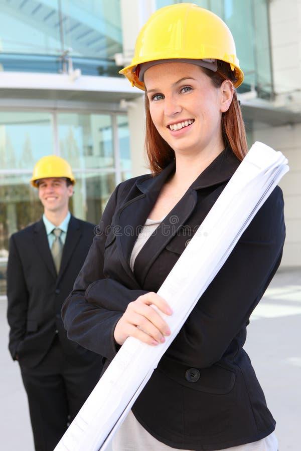 Budowy Mężczyzna Kobieta Obrazy Royalty Free
