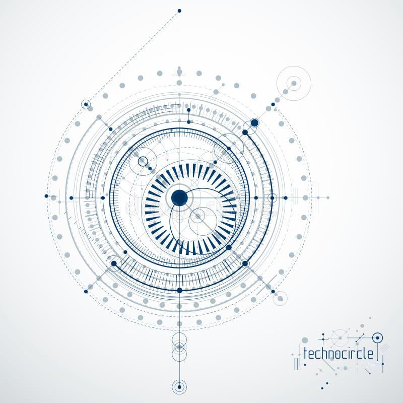 Budowy maszyn technologii wektorowy abstrakcjonistyczny tło, cy ilustracja wektor