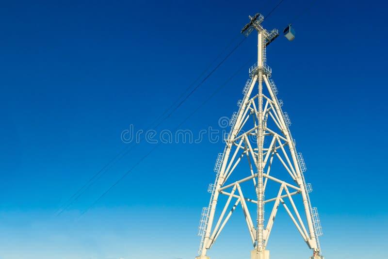 Budowy Narciarski dźwignięcie górują & cableways zdjęcia royalty free