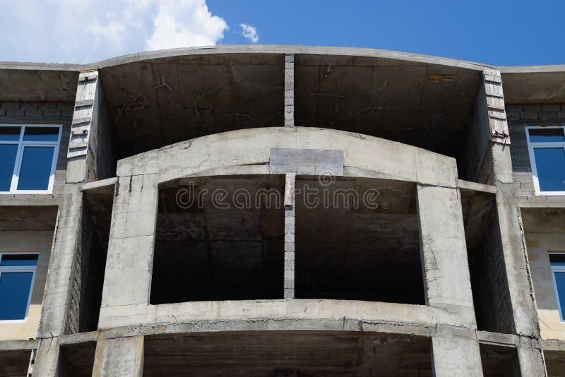 budowy nowego w domu Kondygnacja budynek obraz royalty free