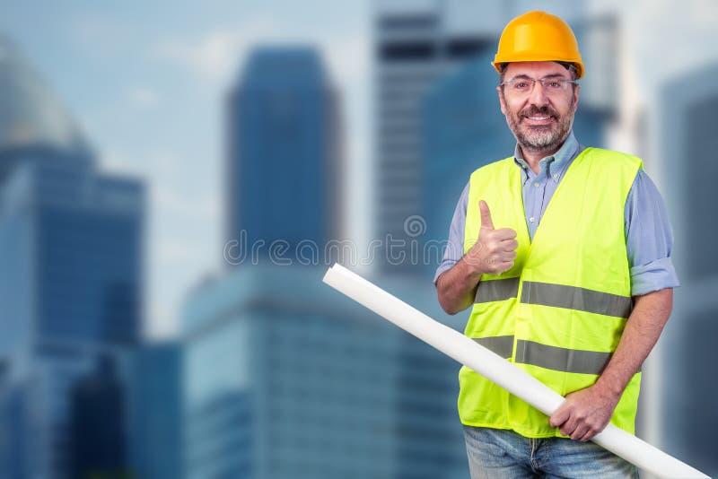 budowy odosobniony ładny stroju pracownik zdjęcie stock