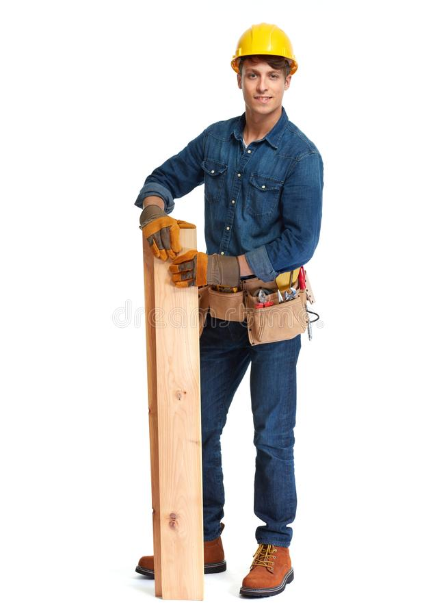 budowy odosobniony ładny stroju pracownik zdjęcia stock