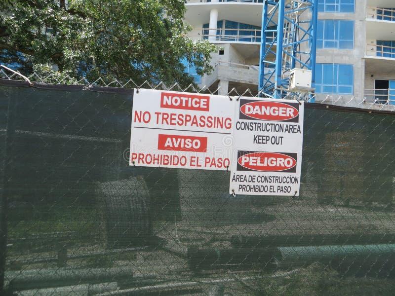 Budowy ogrodzenie, Tampa, Floryda zdjęcie royalty free