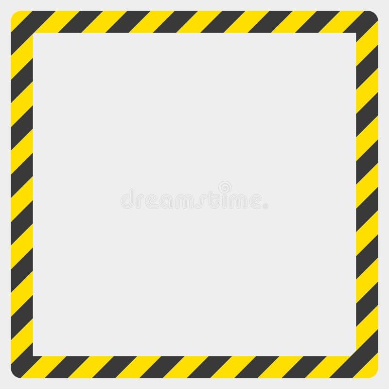Budowy ostrzeżenia granica na białym tle, ilustracja zdjęcia stock