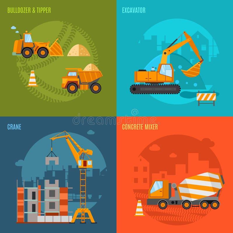 Budowy pojęcia set royalty ilustracja