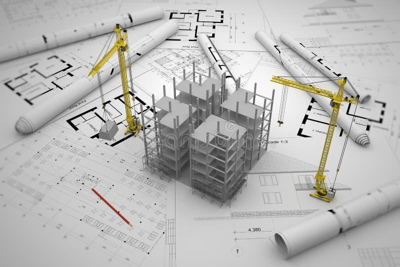 Budowy pojęcie ilustracja wektor