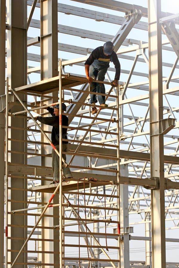 budowy romanian pracownicy zdjęcia royalty free
