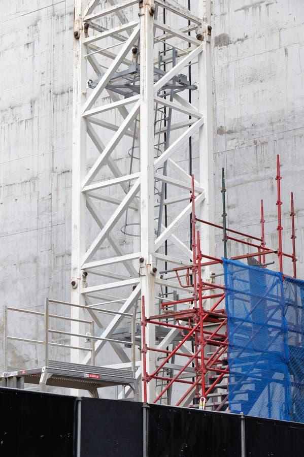 Budowy rusztowanie i bezpieczeństwa powlekanie zdjęcie stock