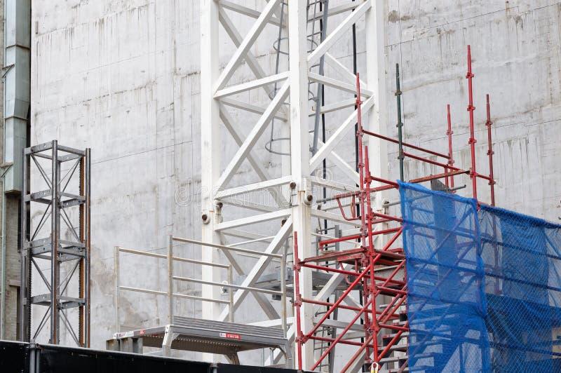 Budowy rusztowanie i bezpieczeństwa powlekanie obrazy stock