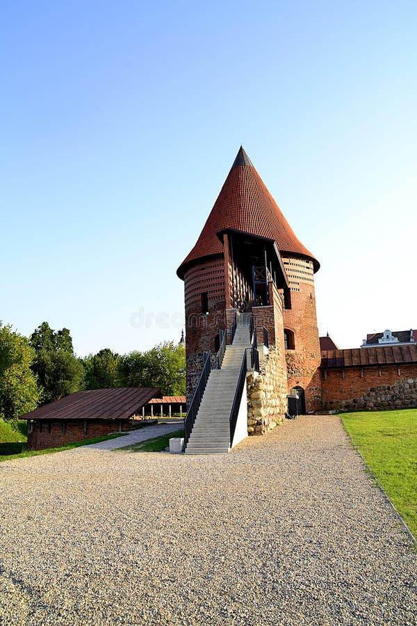 budowy stary defensywny Kaunas zdjęcie royalty free