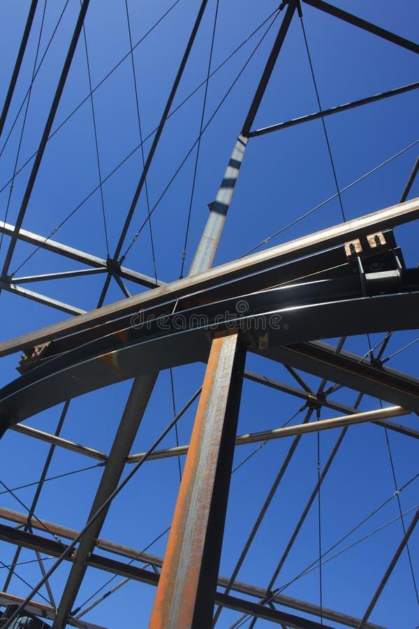 Budowy Steelwork struktury Stalowa struktura obrazy royalty free
