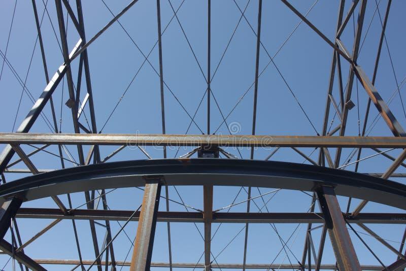Budowy Steelwork struktury Stalowa struktura zdjęcia royalty free