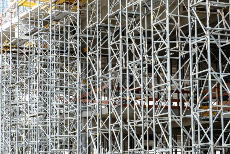 Budowy struktura, rusztowania tło/ obraz royalty free