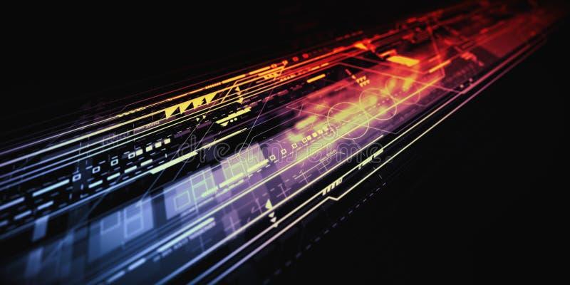 Budowy technologii abstrakta tło ilustracji