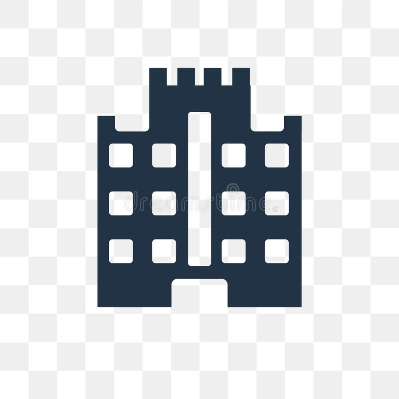 Budowy wektorowa ikona odizolowywająca na przejrzystym tle, Co royalty ilustracja
