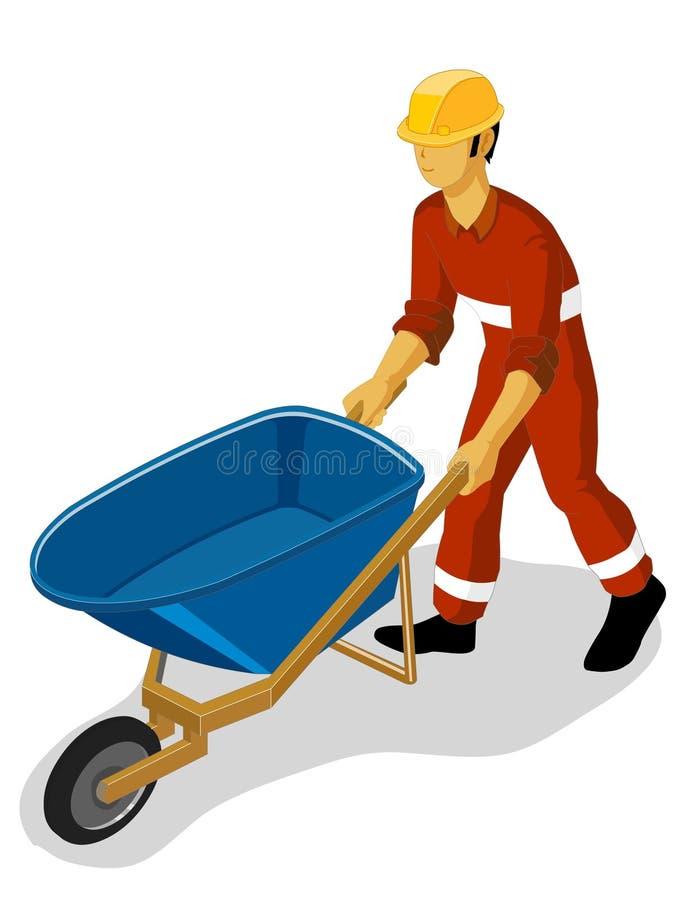 budowy wheelbarrow ilustracja wektor