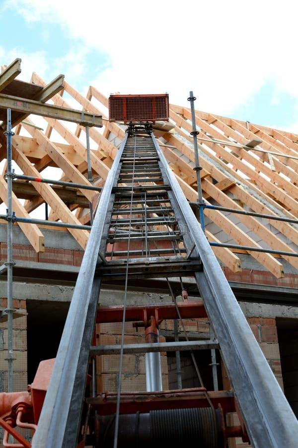 Budujący dach kratownicowego fotografia royalty free