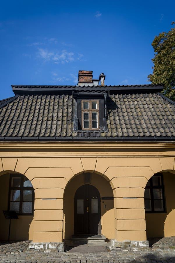Budujący wśród Akershus Fortecznego kompleksu, Oslo, Norwegia zdjęcia stock