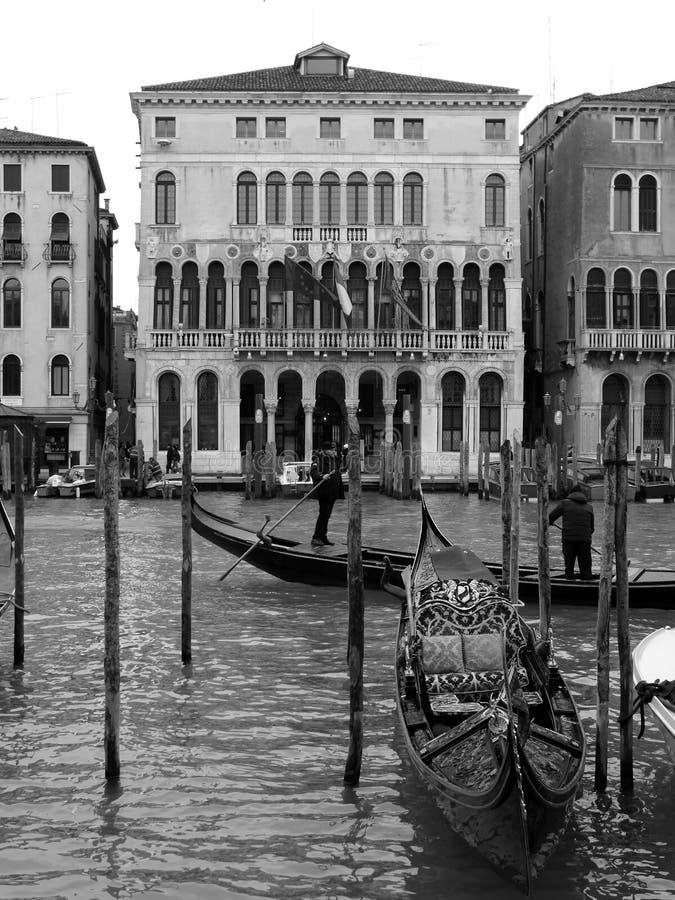Budujący w kanał grande Wenecja, Włochy zdjęcie stock