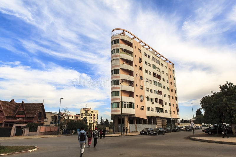 Download Budujący w Meknes, Maroko fotografia editorial. Obraz złożonej z kapitał - 53786482