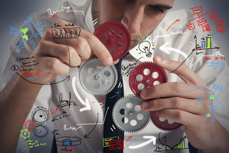 Buduje system biznesowego obraz stock