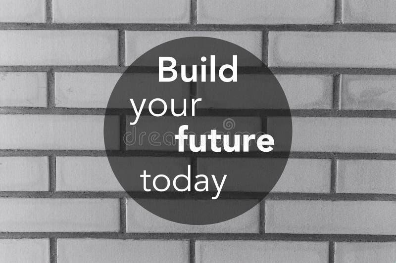 Buduje twój przyszłość dzisiaj przytacza, super ilości abstrakcjonistyczny biznesowy obrazek obraz royalty free