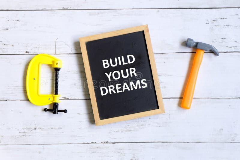 Buduje twój sen obraz royalty free