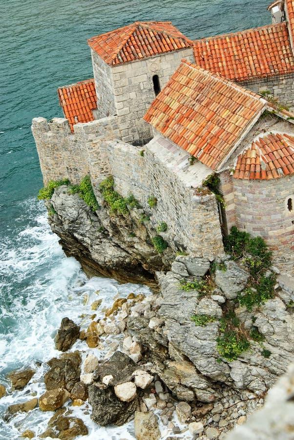 budva城堡 免版税库存照片