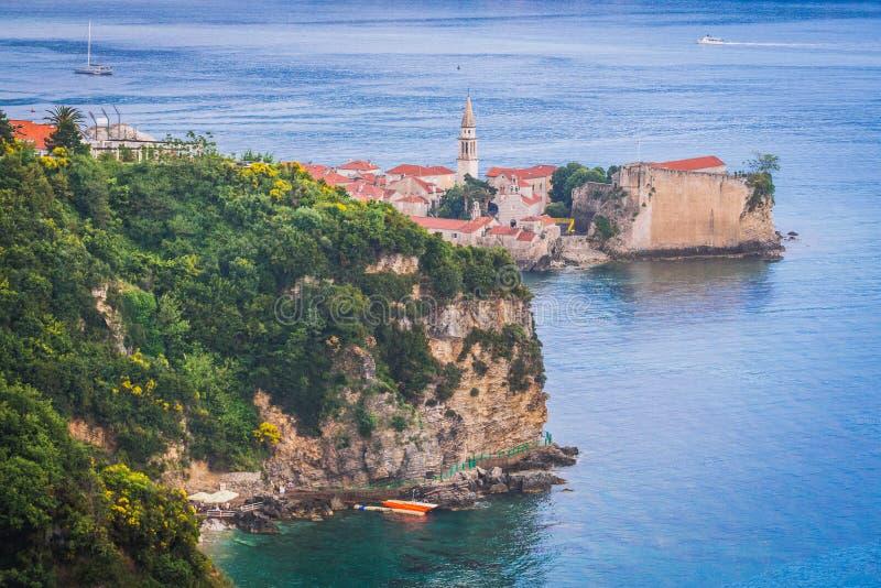Budva em Montenegro imagens de stock