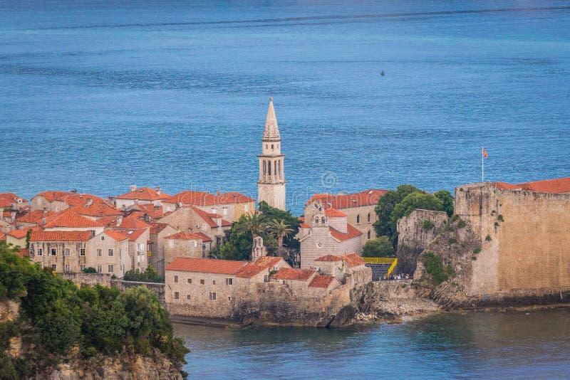 Budva em Montenegro fotos de stock