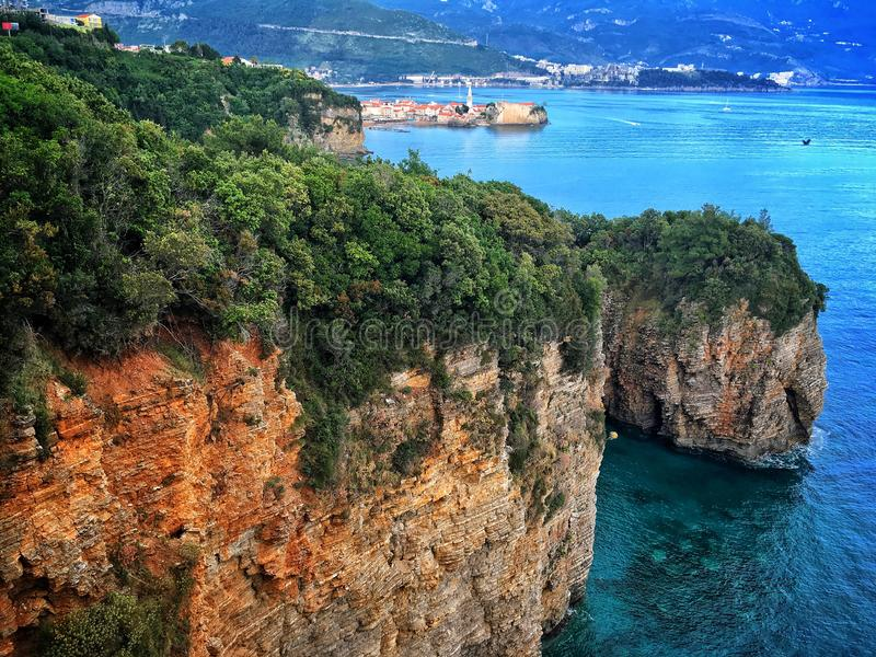 Budva em Montenegro foto de stock royalty free
