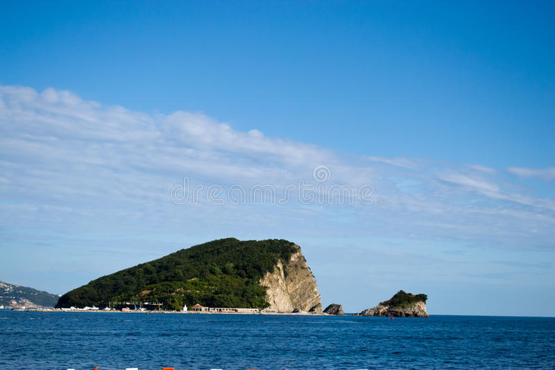 Budva-Insel lizenzfreies stockfoto