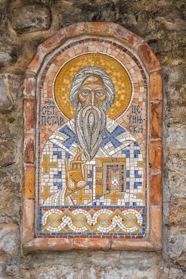 Budva Montenegro mosaik arkivbild