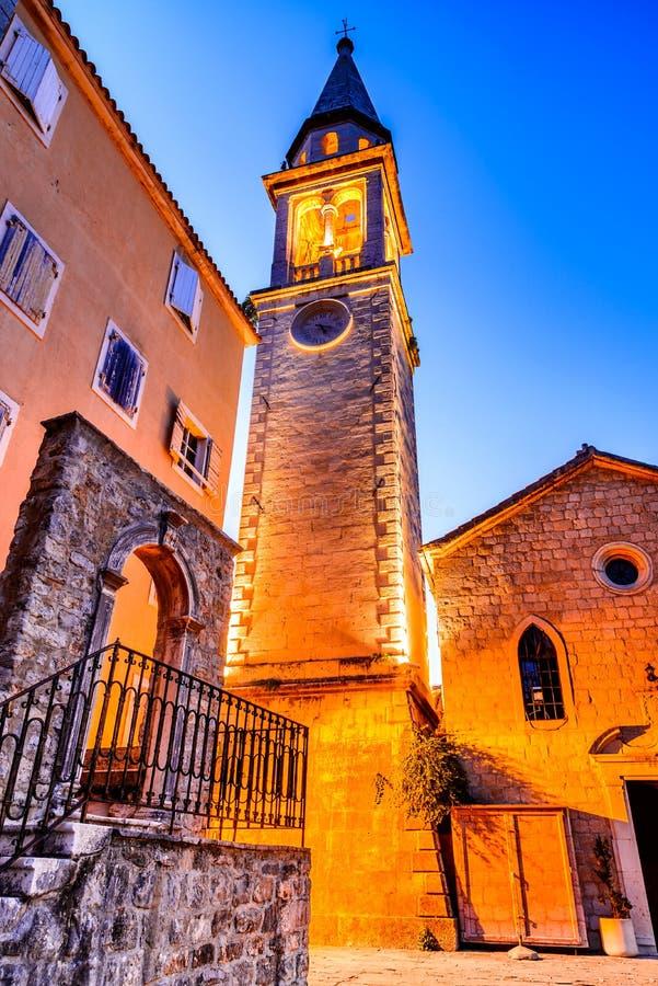 Budva, Montenegro - Sveti Ivan church stock photo