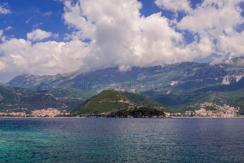 Budva Riviera i Montenegro royaltyfri foto