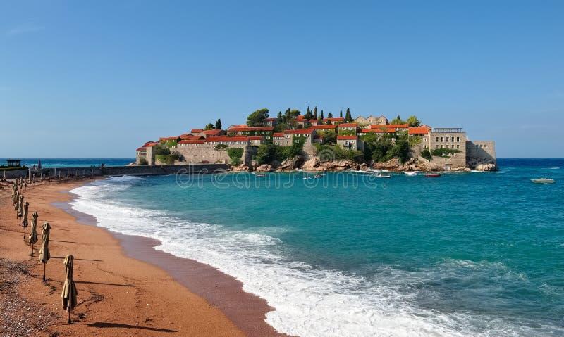 Budva Riviera, Sveti Stefan Island fotografía de archivo libre de regalías