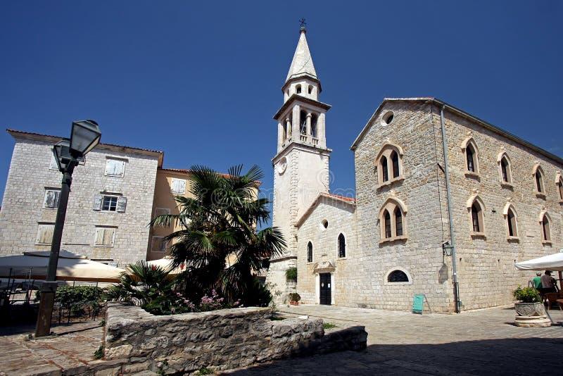 Budva: Sveti Ivan Church royalty free stock photography